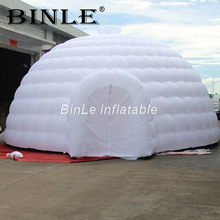 цена High quality blow up white giant inflatable dome tent with 2 entrances igloo tent inflatable tent for event exhibition в интернет-магазинах