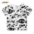 Camiseta de los muchachos Panda Imprimir Niños Ropa de Bebé camiseta de la Historieta Tops Tees Summer Fashion O-cuello de Los Niños de Manga Corta Camisetas de Marca