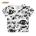 Meninos T-Shirt Panda Impressão Crianças Roupas de Bebê T camisa Dos Desenhos Animados Tops Tees Summer Fashion O-Neck Crianças Manga Curta T-Shirts Da Marca