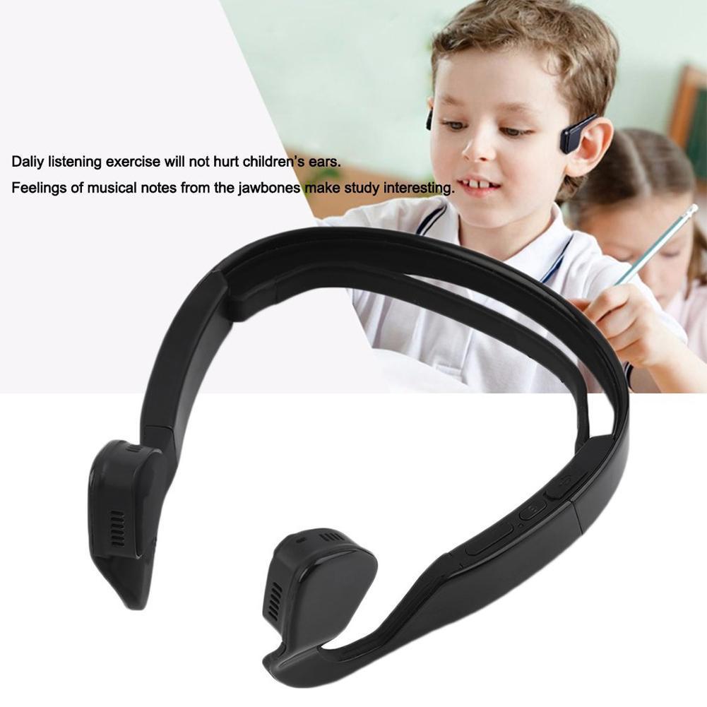 Black Bone Conduction Headset Wireless Bluetooth 4.1 Earphone Outdoor Sports Headphone Hands-free with Mic wireless bone conduction bluetooth 4 1 headset sports headphones with separate wiring diagram