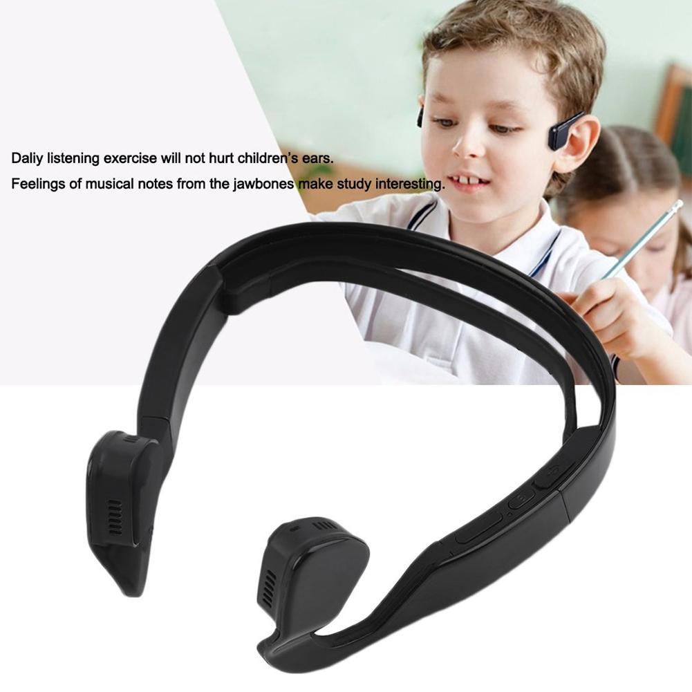 Black Bone Conduction Headset Wireless Bluetooth 4.1 Earphone Outdoor Sports Headphone Hands-free with Mic