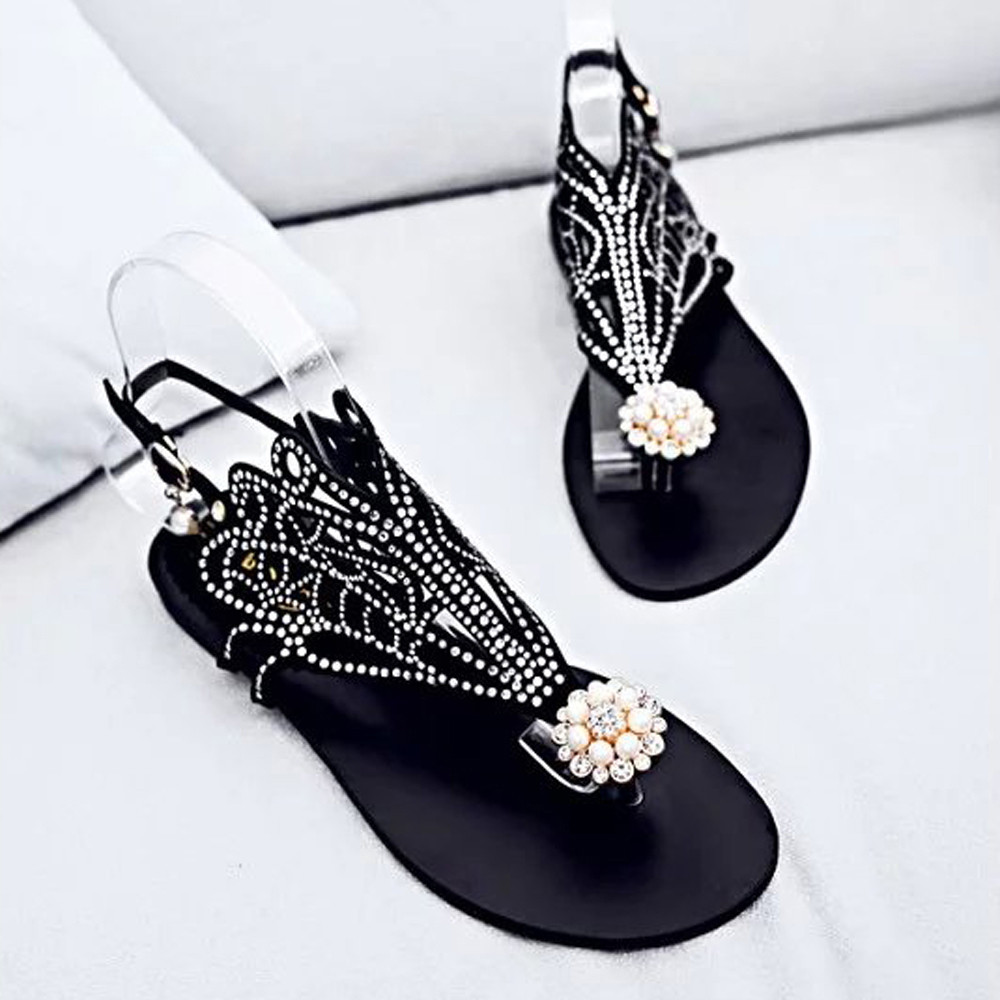 CAGACE 2018  Vintage Summer Style Women Shoes Women's Sandals Platform Wedge High Heels Rhinestones Beach Rome Sandals Slipper