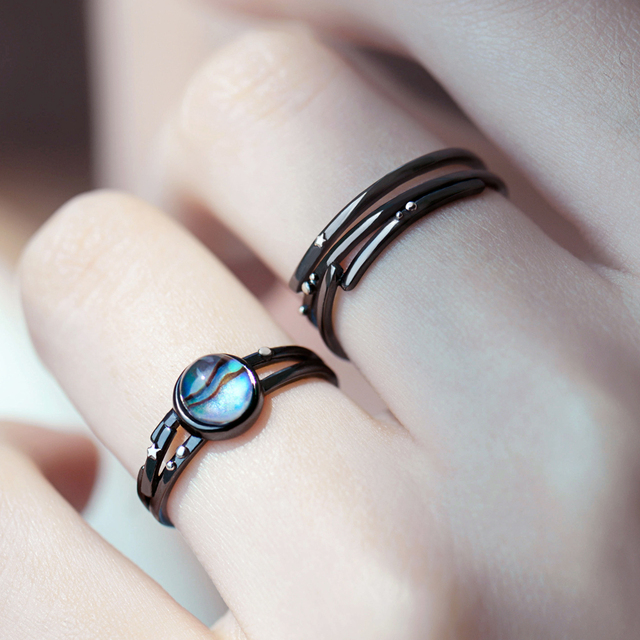 Thaya Stars Milky Galaxy Astronomy Ring Magical Gemstone 925 Sterling Silver Party Handmade Bands Jewellery for Women