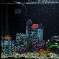 Resin European Villas Castle Aquarium Ornament Fish Tank Decoration Cave Fish Tank Ornament Decoration Landscap Decorative