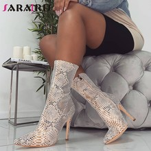 89e0e20ed6b Women shoes Zipper Boots Snake Print Ankle Boots Thin Heels Fashion Pointed  toe Ladies Sexy shoes