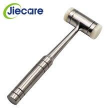 1 PC dwugłowy Nylon Dental Bone Hammer uchwyt ze stali nierdzewnej autoklaw zęby chirurgiczne narzędzie ekstrakcji dentysta Instrument
