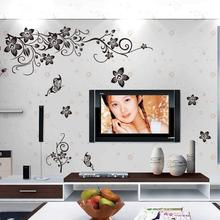 Best Selling Wall Decal DIY Decoration Romantic Flower vine Stickers Living room Home Decor Manufacture Fast Shipping