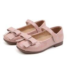 цена COMFY KIDS Autumn Children Shoes Girls Sandals Fashion Bow Princess leather shoes Girls Casual Shoes dance shoes for childrens онлайн в 2017 году