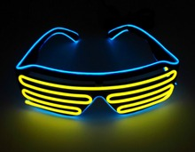 Party Led DJ Mask, Quick Flashing EL LED Glasses Luminous Lighting Colorful Glowing Classic Toys For Dance DJ, Mask