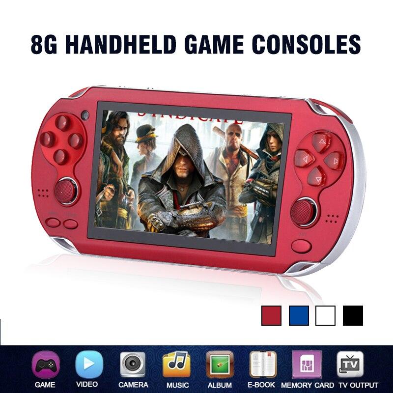 Новые детские 8 ГБ Ручной игровой консоли 4.3 дюймов Портативный красочные мини-видео игры игроки MP4 MP5 Поддержка ТВ из Камера электронная книга