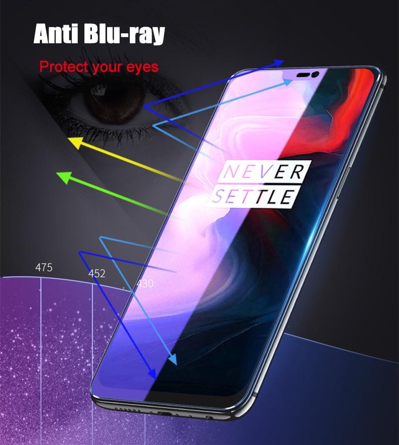 Image 4 - 2 шт./лот, полностью закаленное стекло для Oneplus 6 6T 7, Защитное стекло для экрана 2.5D, закаленное стекло для one plus 7 6 6 t, анти синее стекло-in Защитные стёкла и плёнки from Мобильные телефоны и телекоммуникации