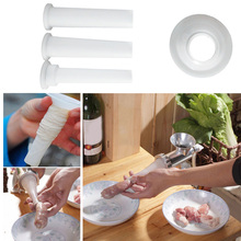 3Pcs/set Sausage Stuffer DIY Filling Funnels Nozzle Manual Meat Hot Dog Maker Kitchen Grinder Tube