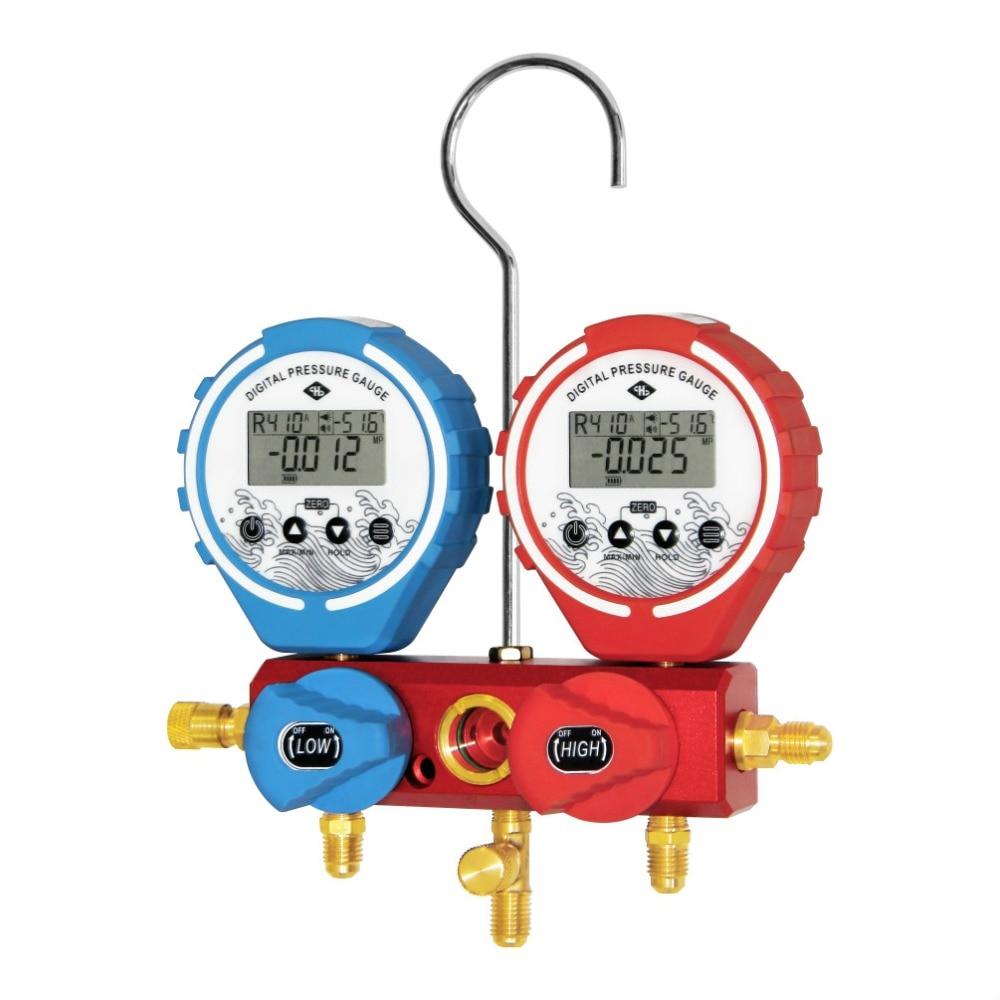 Digital Refrigeration Manifold  Gauge Refrigerant Refrigerante  Pressure Gauge High Pressu Gauge Manifold Pressure Gauge Vacuum