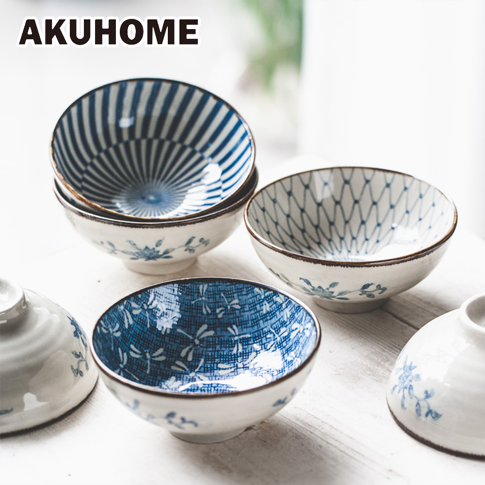 Japanese Style Ceramic Rice Bowl 8 Color 4 7 Inch