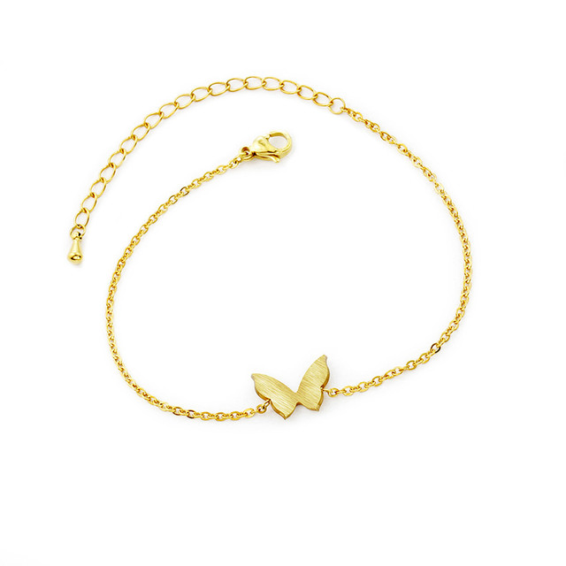 Elegant Erfly Charm Bracelet Las Stainless Steel Animal Hand Chain Gold Silver Color Adjule Pulseiras Kids