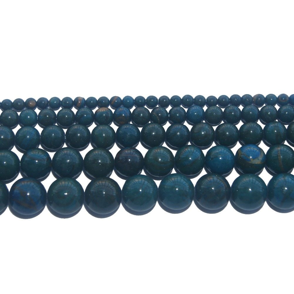 Natural Stone Beads Blue Phoenix Jades Round Loose Beads 4 6 8 10 12 Mm Pick Size For Jewelry Making Diy Bracelet Necklace Invigorating Blood Circulation And Stopping Pains Beads & Jewelry Making Jewelry & Accessories