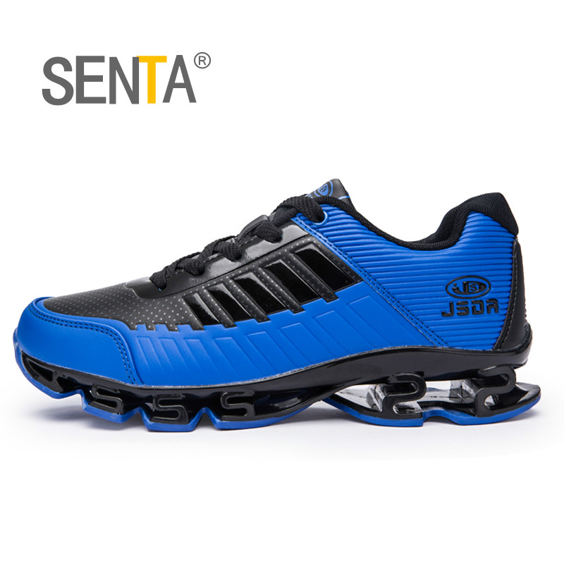 SENTA 2018 Blade Running Shoes For Men Antiskid Damping Cool Outsole Walking Trekking Leisure Summer Running Zapatills Sneakers