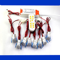 Dimmable (8pieces/set ) High Quality 3W Mini COB LED Downlight LED Spot light LED Ceiling Lamp+Driver+Dimmer