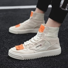 NIS High Top Casual Sport Sneakers Mens Vulcanized Shoes Men Shoes Vintage Splicing Canvas Lace-up Casual Sneakers Size 39-44