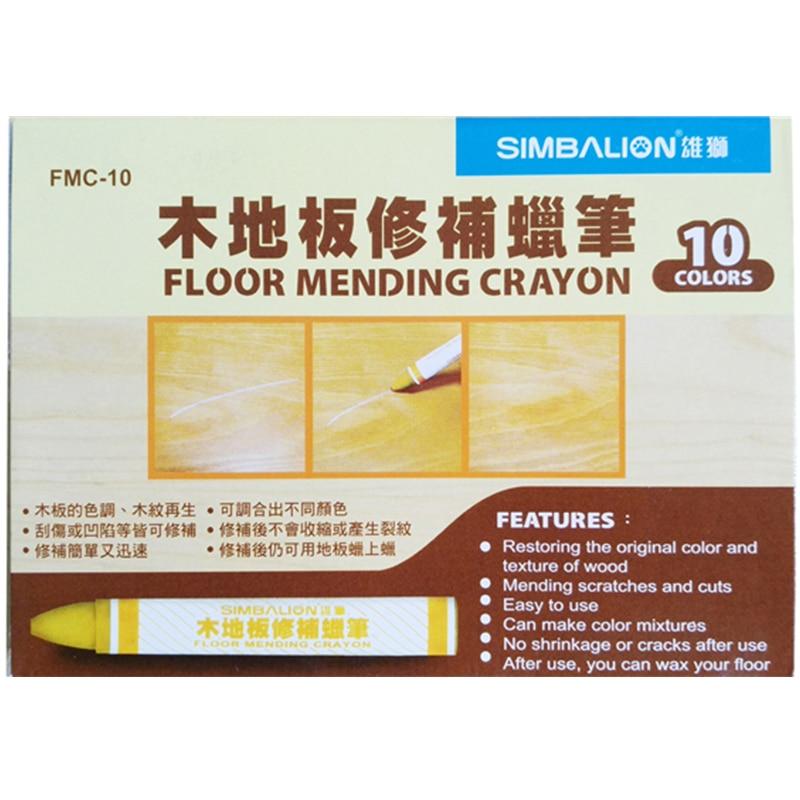 Correction Crayon Wood Floor Repair Wax Floor Mending Crayon Repair Materials 10 color/set crayon