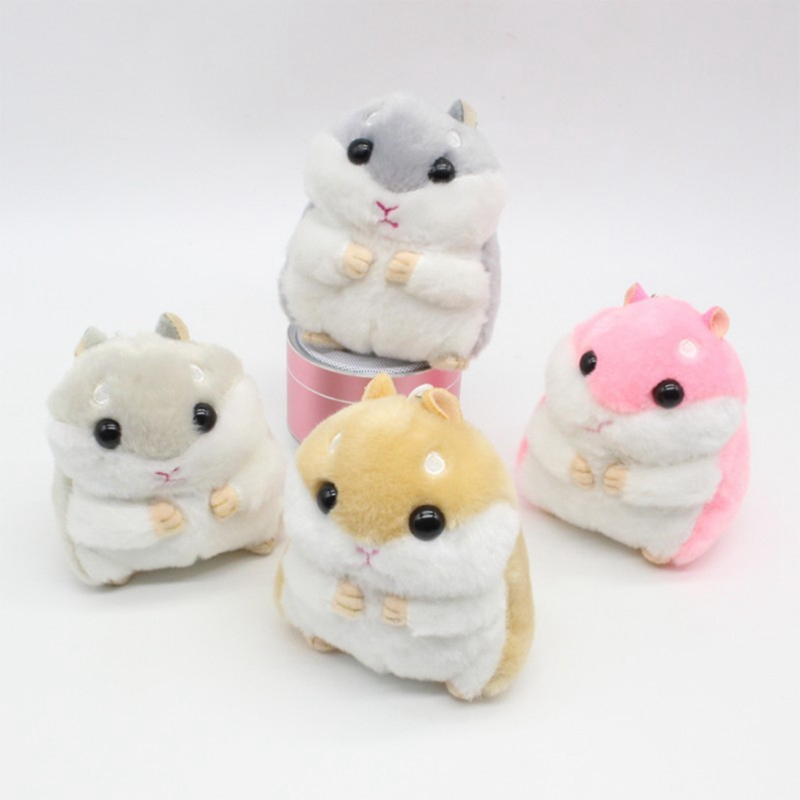 FäHig Kawaii Nette Hamster Plüsch-schlüsselanhänger Spielzeug Cartoon Tier Kleine Puppe Schlüssel Kette Anhänger Gefüllte Maus Baby Kinder Spielzeug Elegante Form