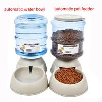 3.5L Büyük Kediler Köpekler Için Otomatik Pet Besleyici İçme Çeşme Çevre Plastik Köpek Maması Kase Evcil Su Pınarı