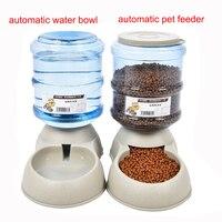 3.5L Gran Fuente de Agua Alimentador Automático de Mascotas Para Gatos Perros Mascotas Dispensador de Agua Perro Plato de Comida de Plástico Del Medio Ambiente