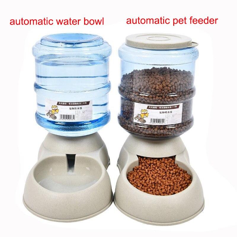 3.5L gran Alimentador automático fuente de agua para Gatos Perros plástico ambiental comida para perros mascotas dispensador de agua