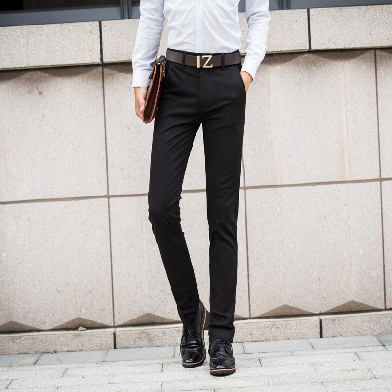 HCXY 2019 Men's Casual Pants Men Trousers solid color High-quality Full cotton Business Trousers male four seasons casual Pants