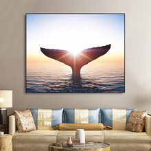 Laeacco Sunshine Seascape Posters and Prints Canvas Painting Animal Wall Art Picture For Kids Room Living Room Home Decoration laeacco sea marine fish sunshine posters and prints canvas painting wall art picture home decor living room decoration