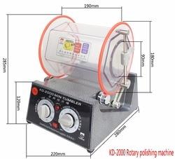 KD-2000 Jewelry Polisher Tumbler 5Kg Mini Polisher Tumbler Rotary Tumbler Surface Polisher Jewelry Polishing Finishing Machine