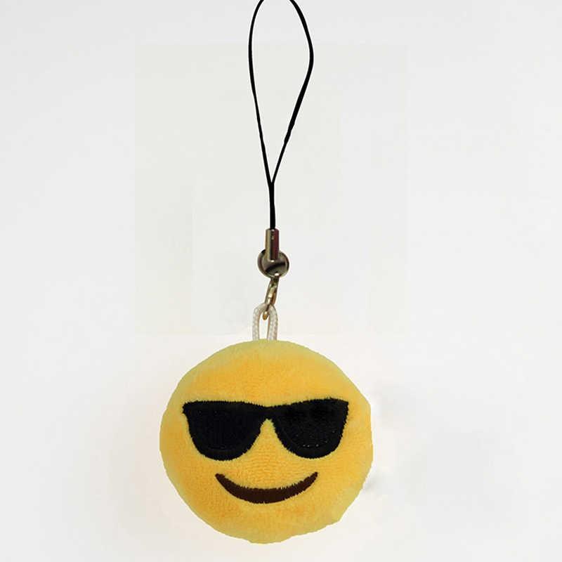 Moda emoji emoticon engraçado rosto chaveiro pingente chaveiro chaveiro saco de brinquedo acessório titular chaveiro macio para a mulher homem