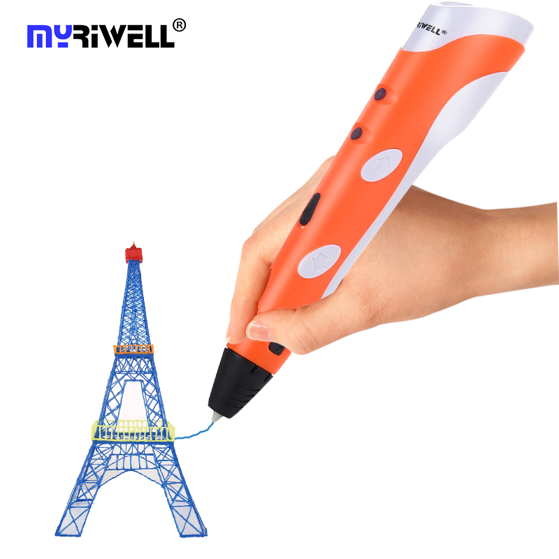 myriwell Magic 3d printer pen Drawing pen With 3Color ABS filaments 3D Printing 3d pens for kids best Christmas gifts