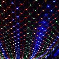 3*2 m 200 Led de L'UE Plug de mariage Partie Décoration led net jeu de lumières Multi Couleur 8 Affiche net lumières de noël en plein air
