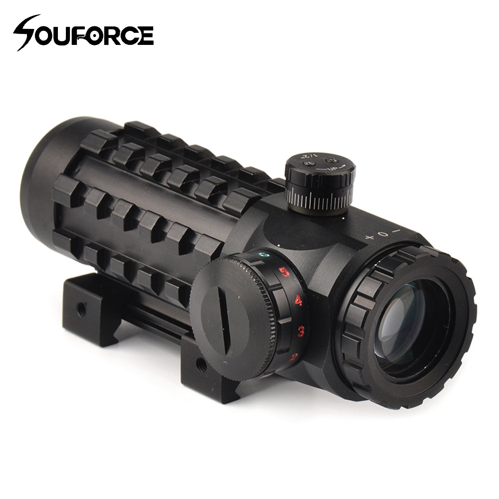 4x28EG Optical Sight Hunting Scope Reticle Riflescope Red/Green Sight Multi-coated Fit 20 Mm/11mm Rail Base For Hunting