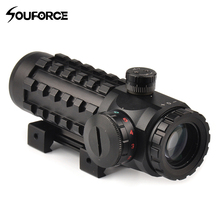 4x28EG Optical Sight Hunting Scope Reticle Riflescope Red/Green Multi-coated Fit 20 mm/11mm Rail Base for