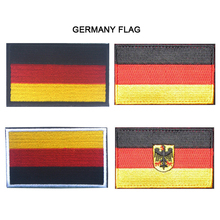 Embroidered Germany Flag Patches Army Badge Patch 3D Tactical Military Fabric Cloth Armband National