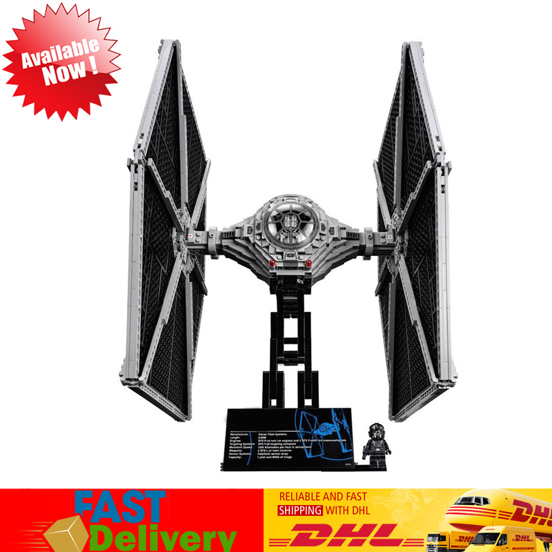 Lepin 05036 1685pcs Star War TIE Fighter Set Model Building Blocks Bricks Toys Birthdays Gifts Compatible LegoINGlys 75095 lepin 05036 1685pcs star wars tie fighter building educational blocks bricks toys compatible legoinglys 75095 gifts