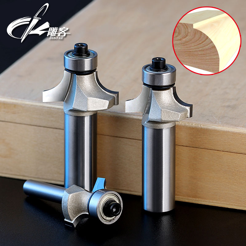 1PCS 1/21/4 SHK Round-Over Router Bit Corner Round Over Bit Router Cutting Radius Woodworking Tool huhao 1pcs round over router bits for wood woodworking tool 2 flute endmill with bearing milling cutter corner round over bit
