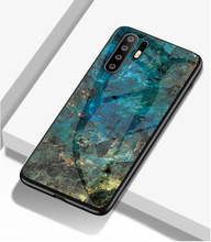 Leanonus Marble Tempered Glass Cover Case For Huawei Y9 2019 Y7 Prime Pro Funda for Capa