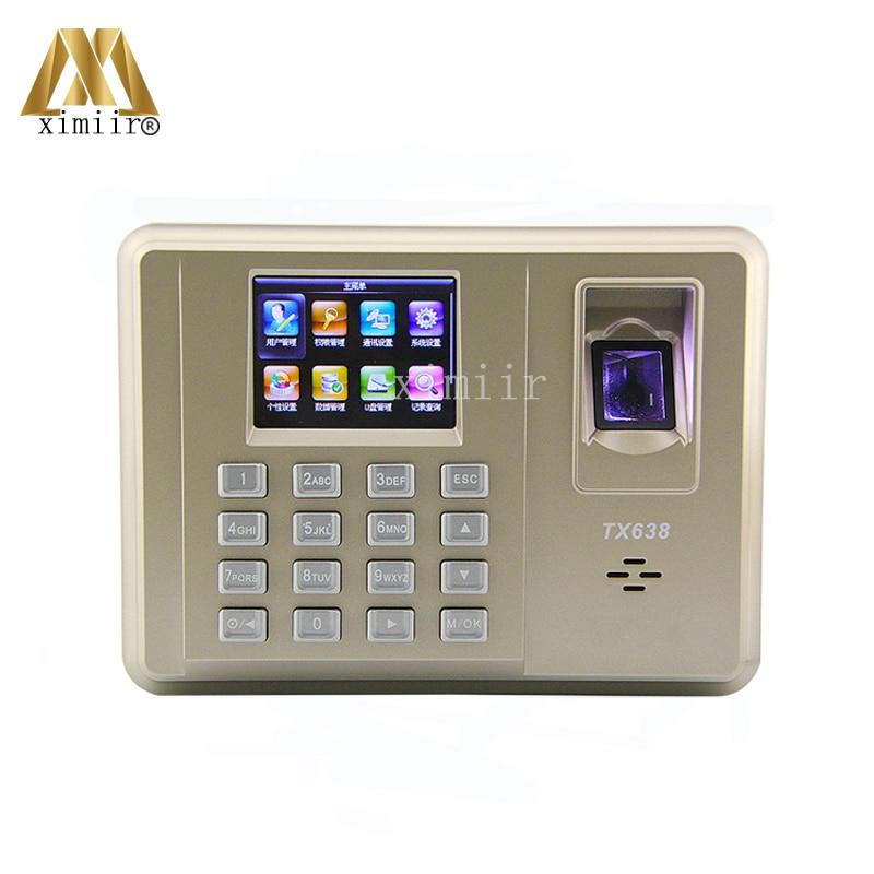 Good Quality TX638  Biometric Fingerprint Time Attendance WIFI TCP/IP Communication Employee Attendance Time Clock