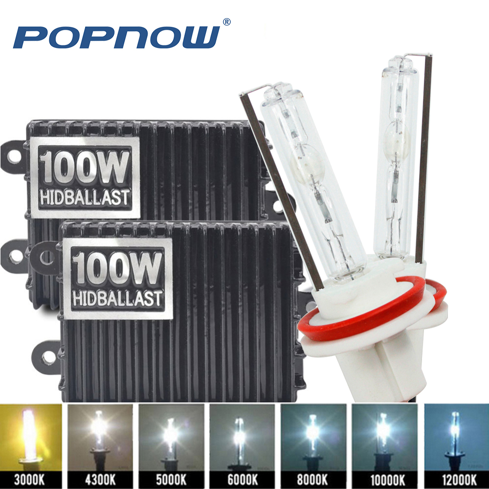Xénon H7 75 W AC 100 W haute puissance Ballast kit HID xénon phare ampoule 12 V H1 H3 H11 h7 xénon hid kit 4300 k remplacer lampe halogène