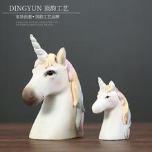 Nordic creative resin unicorn  desk decoration home decor original table accessories dropshipping Animal