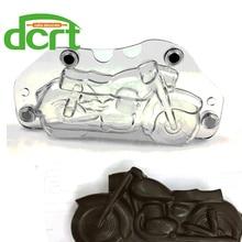 Torta Hecha A Mano de La Motocicleta 3D del molde del Chocolate de DIY, Autobike Plástico De Policarbonato de Chocolate En Forma de Herramientas Para La Toma