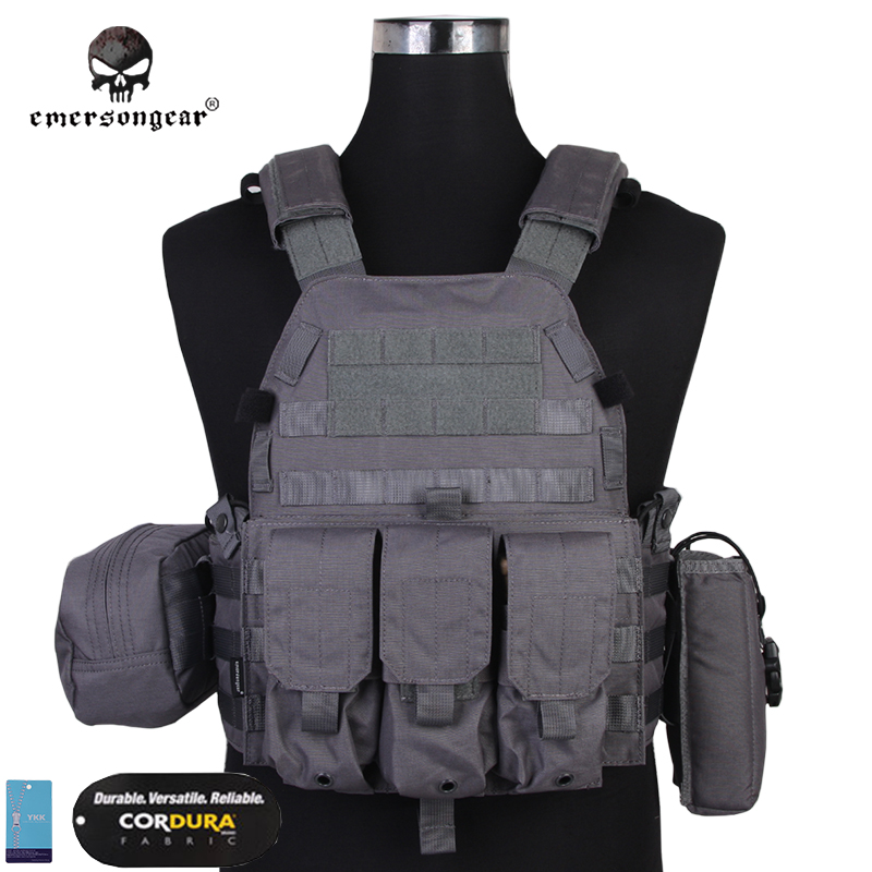 Emersongear LBT6094A Style Vest With Pouches Airsoft Painball Military Army Combat Gear EM7440WG 6094 Cordura Wolf Gray