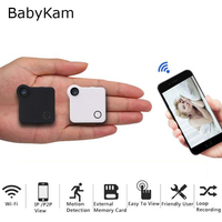 Babykam wifi ipカムミニdvr hd 720 pアクションカメラモーションセンサーループ録画dvウェアラブルボディカメラで磁気クリッ