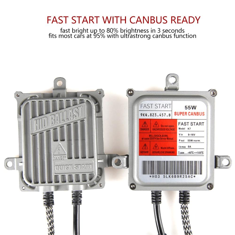 AC 55W CANBUS SUPER DECODER ERROR FREE XENON HID KIT 9005 9006 H1 H3 H4 H7 H11