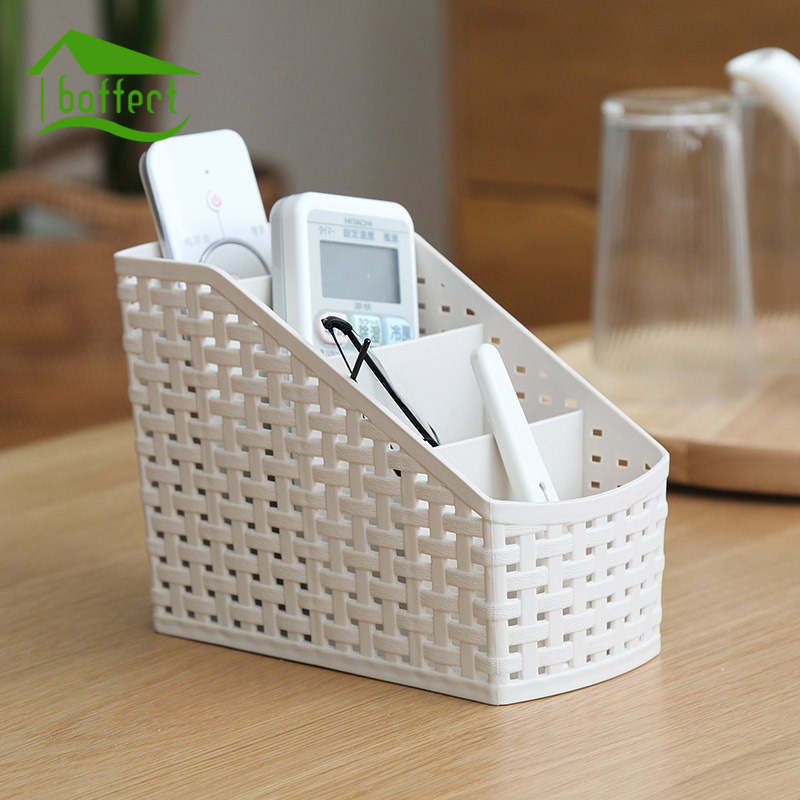 Trapezoidal Multi-grid Box Creative Desktop Storage Box Cosmetics Remote Control Holder Small Objects Container Makeup Organizer