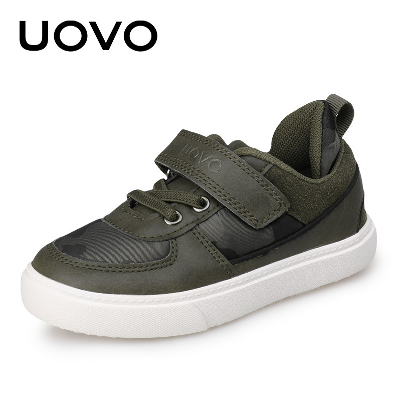 Uovo Brand Casual Seakers New Designer Khaki Camouflage School Shoes Size 27-37 Boys Spring Autumn Shoes For Little or Big Kids