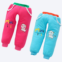 2018 Winter Newborn Cotton Padded Trousers Baby Boy Girl Winter Pants Thick Warm Open Crotch Baby Winter Quilted Pant Outwear